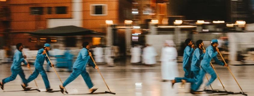 Limpieza juntas suelo