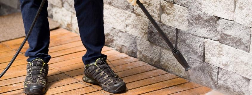 limpiar el suelo de la terraza de tu casa